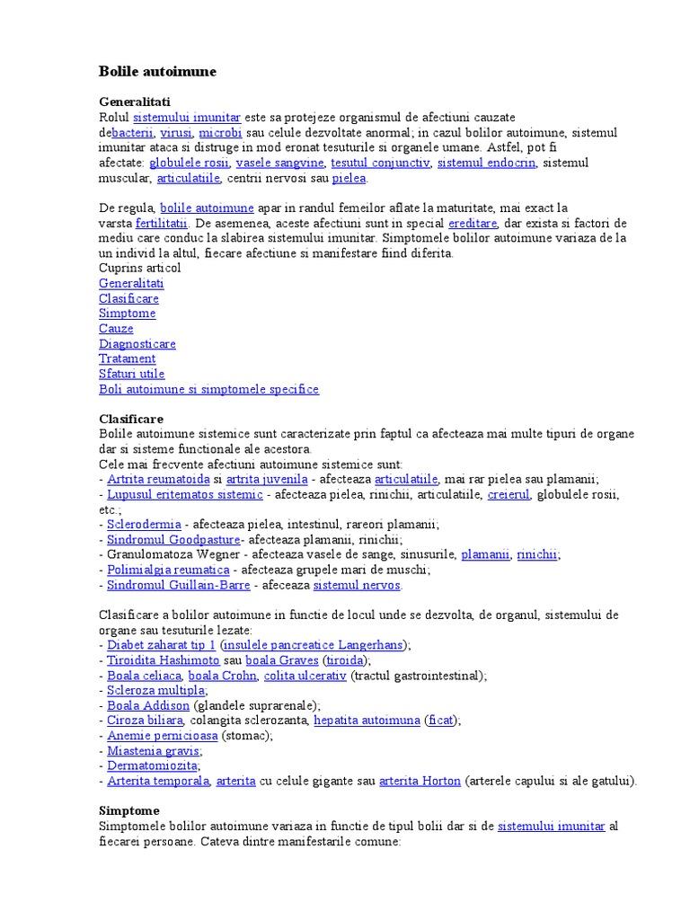 Lista bolilor autoimune ale țesutului conjunctiv