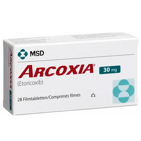 ARCOXIA 90 mg COMPR. FILM. — Lista Medicamentelor Mediately