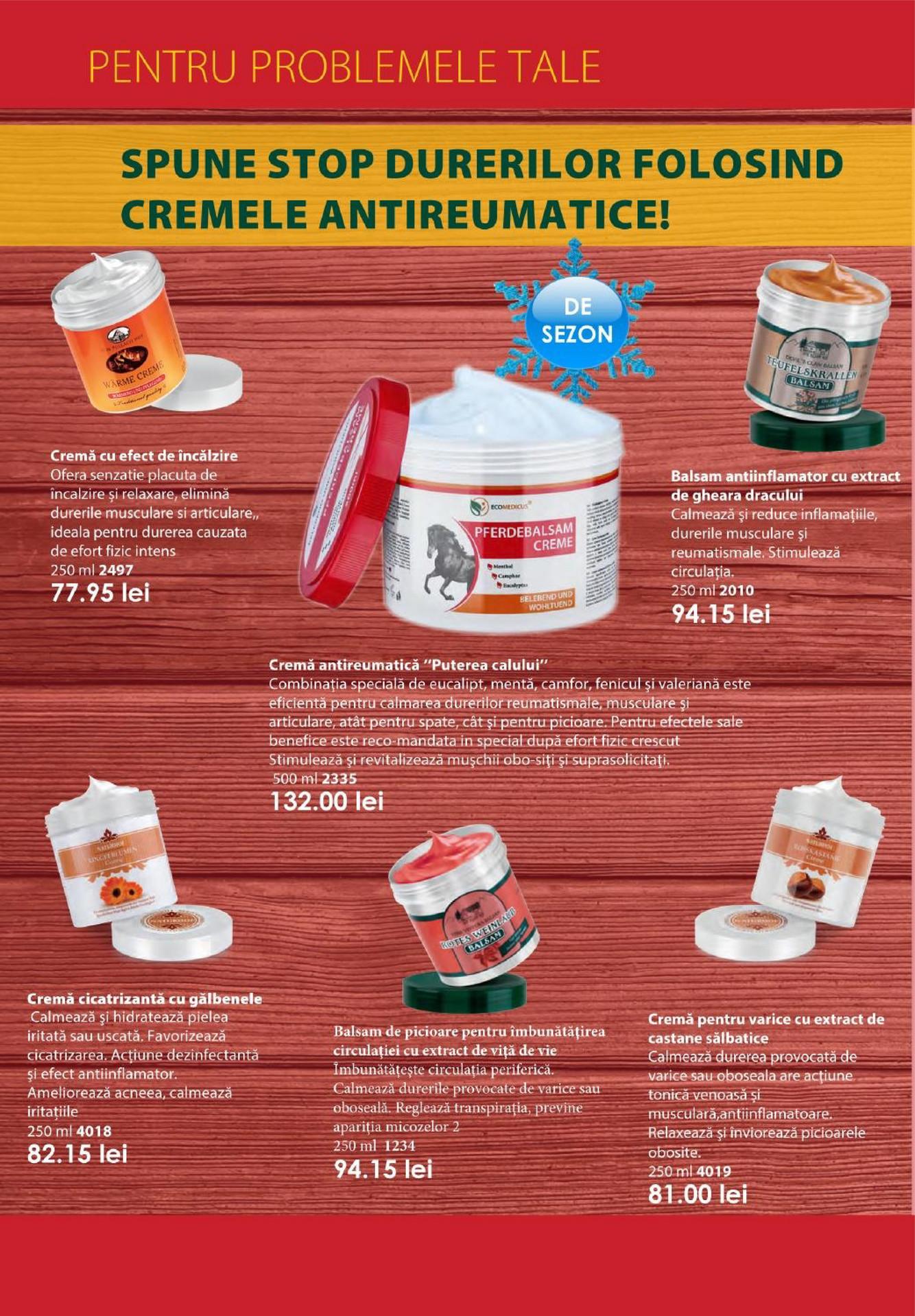 Produse care ameliorează inflamațiile articulare