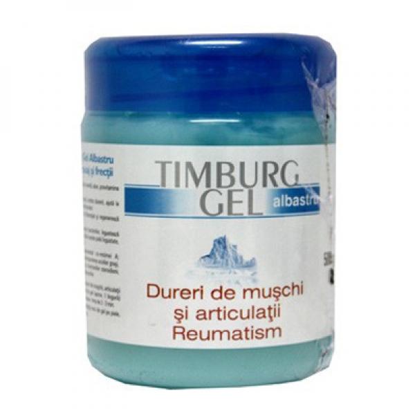Gel pentru masaj și frecții Timburg, albastru, Transrom, 500gr