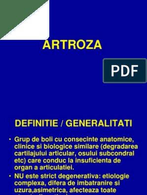 artroza etiologie patogeneza tratament clinic
