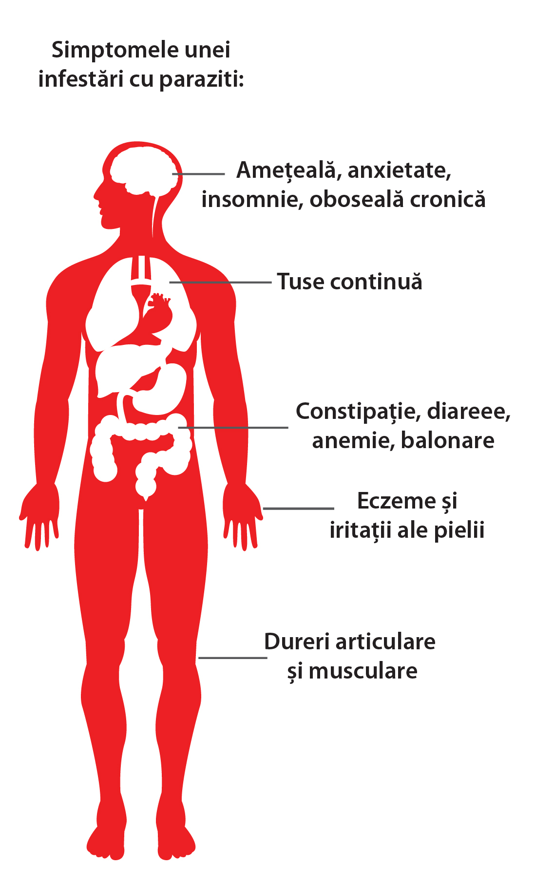 Dureri articulare și musculare cu paraziți